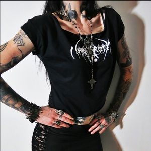 Nargaroth Lace Crop Top